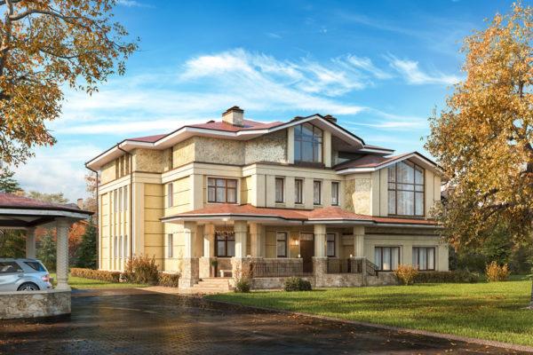 Визуализация элитного дома в поселке Гринфилд