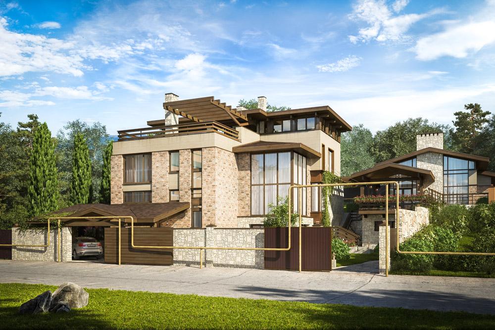 Визуализация дома в Сочи