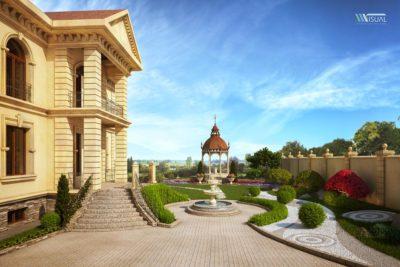 Визуализация виллы в Казахстане