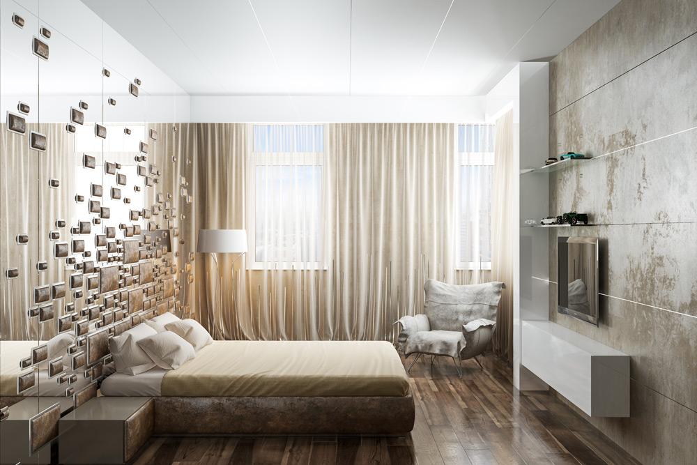 """Визуализация гостевой комнаты в жилом комплексе """"Алые паруса"""""""