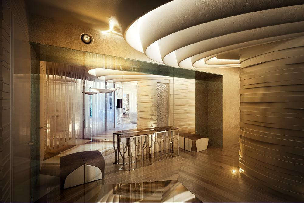 """Визуализация гостинной и кухни в жк """" Алые паруса"""""""
