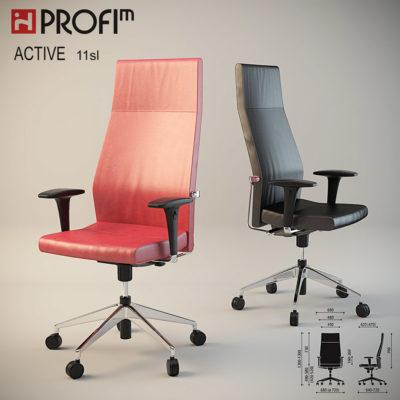 Визуализация кресла profim active 11sl