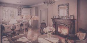 Гостинная кухня — классика