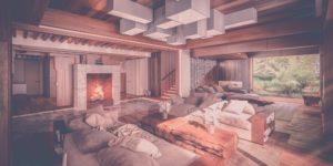 Эко-дом в Жуковке - гостинная