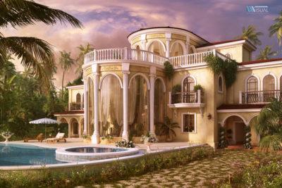 Визуализация виллы Paradise