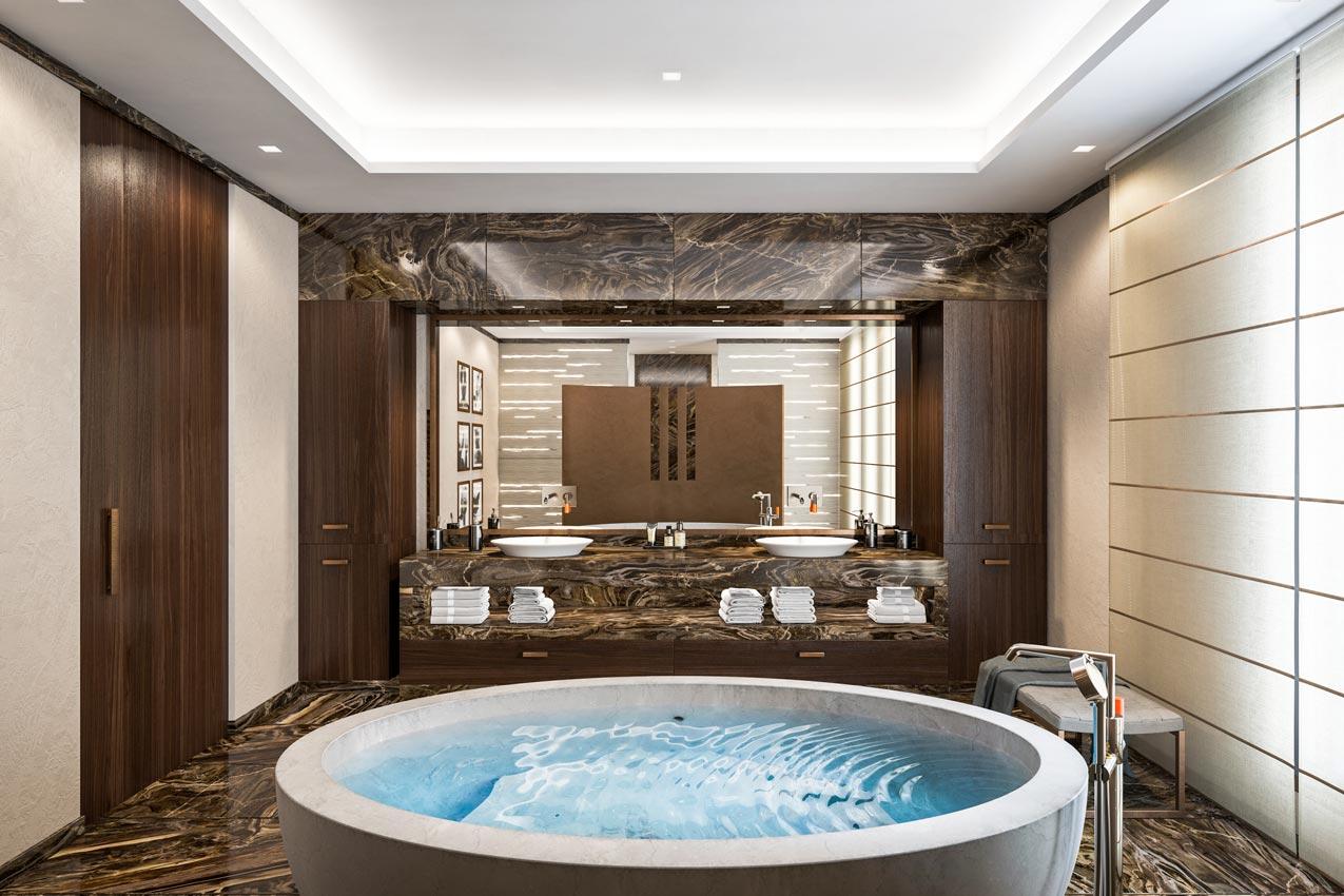 Визуализация виллы в Италии (Ванная комната)