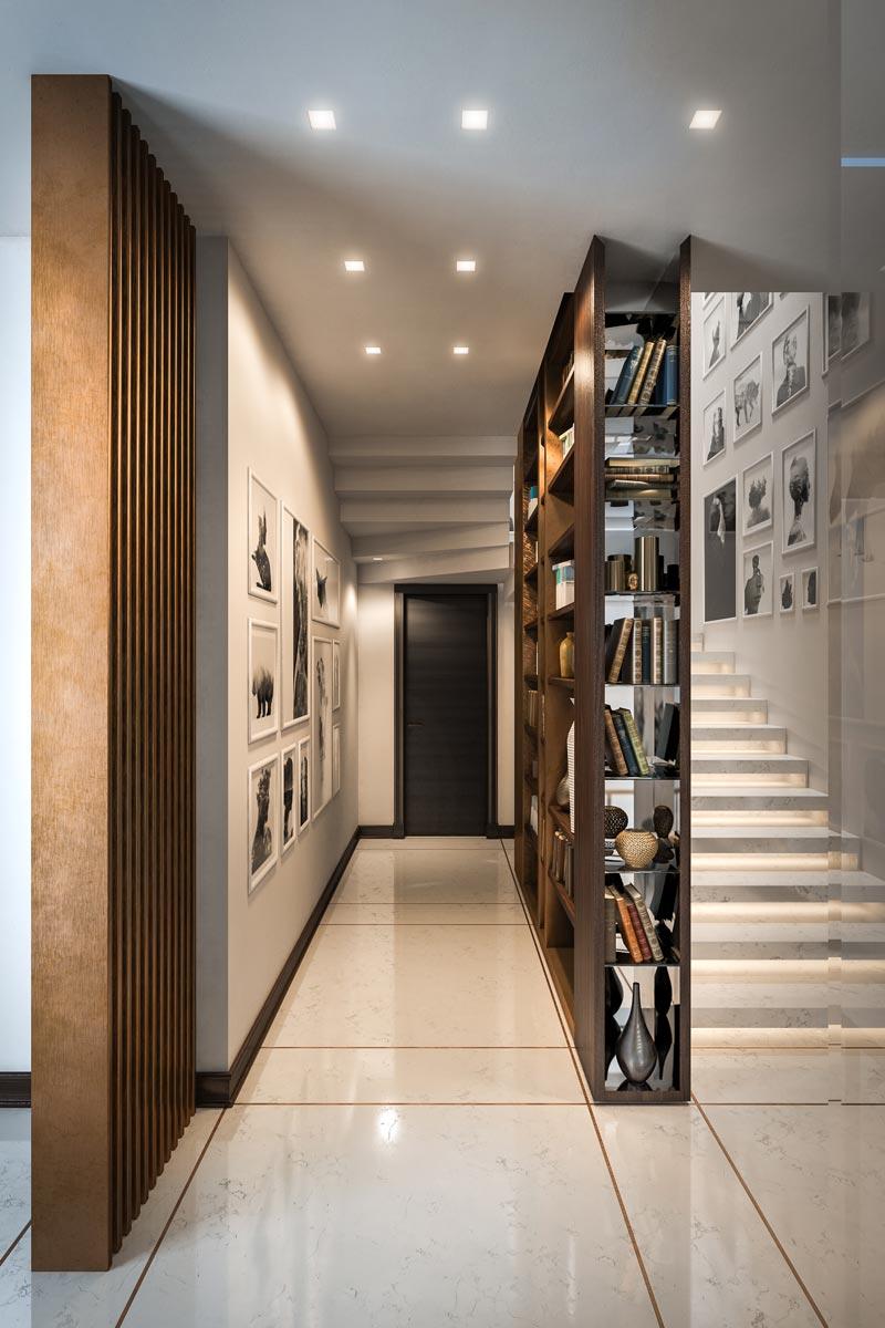 Визуализация виллы в Италии (холл)