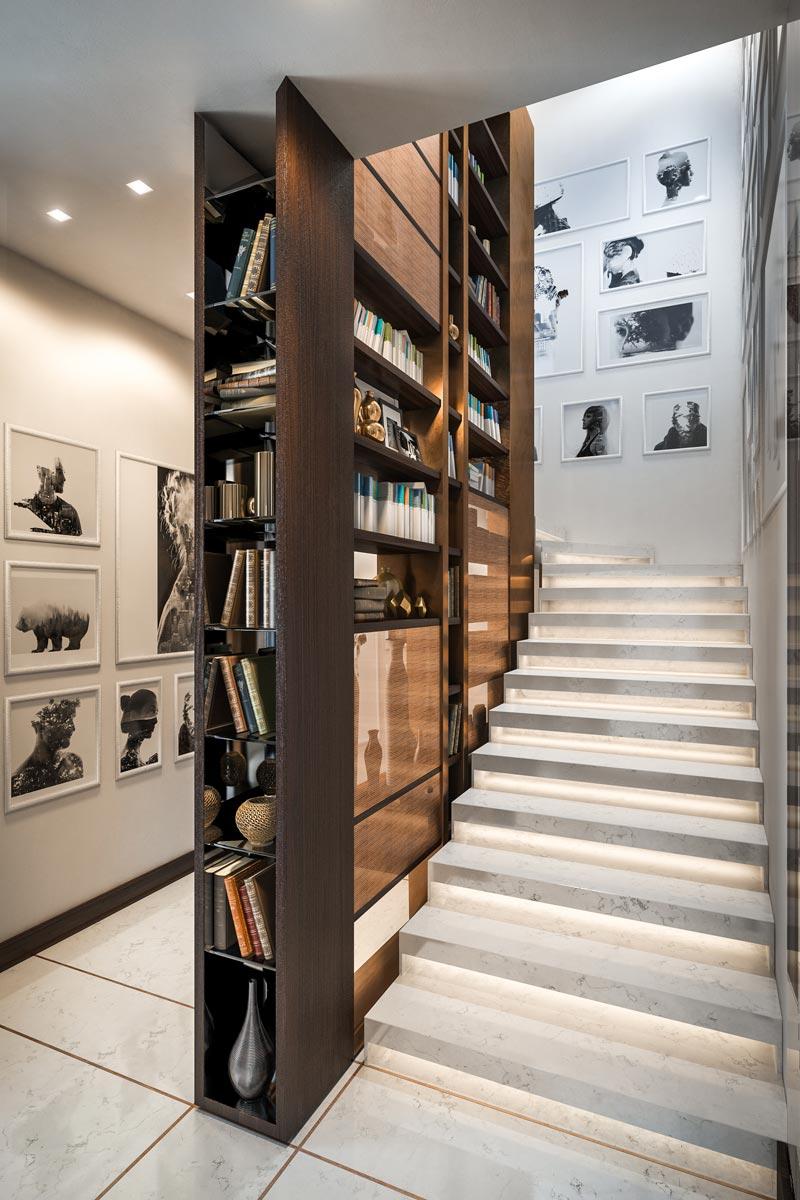 Визуализация виллы в Италии (лестница)