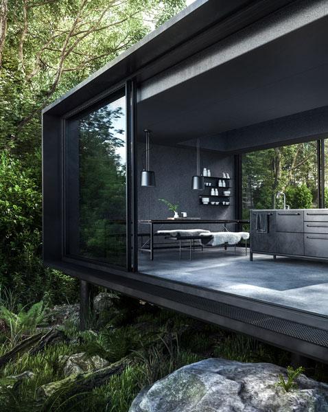 3D визуализация модульного дома The Vipp Shelter